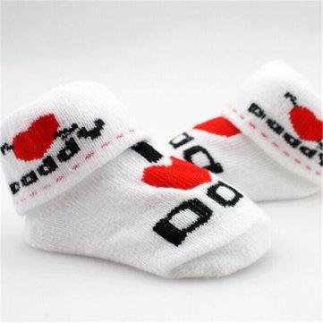 0 à 6 mois doux accessoires pieds du nouveau-né bébé tout-petits jolis garcons filles coton caoutchouc maman chaussettes de papa