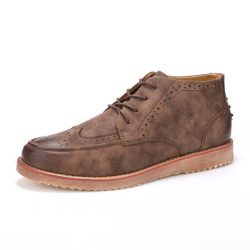 La mode des hommes creux britannique casual Classic Chaussures oxford lacées