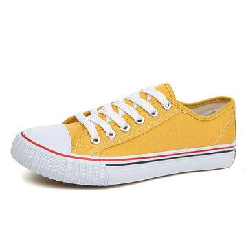 Nous taille 5-13 décontractée dentelle vers le haut chaussures de toile athlétiques colorées de bout rond