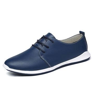 Taille nous 6.5-11.5 hommes occasionnels chaussures en cuir dentelle extérieure jusqu'à des plats oxfords