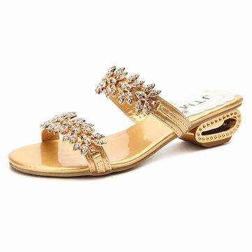 Femmes été sandales de plage bracelet en métal sandales plateforme chaussures pantoufle respirante