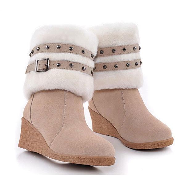 Caler talons hauts usure multiples coton ceinture rembourrée bottes mi-mollet neige