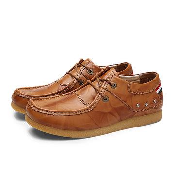 Souple en cuir montantes lacez vers le haut de chaussures formelles de lacets affaires respirant