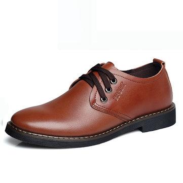 Lacent cuir souple formelles chaussures d'affaires caoutchouc de bout rond chaussures de sport
