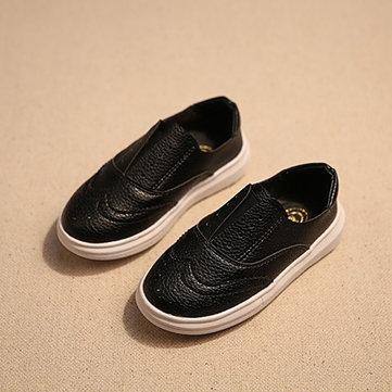 Enfants angleterre style noir blanc creux à glisser sur chaussures plates