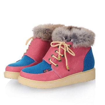 Doublureenfourrureenfourrureà l'hiver Tenir le coton chaud Ankel Bottes de neige