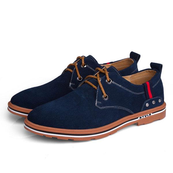 Taille nous 6.5-11 hommes haut bas lacets plats en daim extérieur casual chaussures de mode respirant
