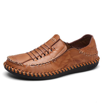 Chaussures& en& cuir& à& manches& longues style Oxford