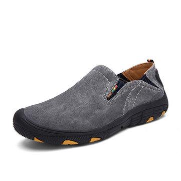 Hommes en cuir souple confortables chaussures de randonnée occasionnels usure et antidérapants