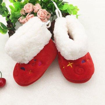 Baby girl bottes chaudes bébé nouveau-né chaussures hiver doux semelle anti-dérapante