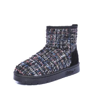Les femmes d'hiver garder des bottes de neige chauds glissement décontracté en plein air sur les confortables chaussures appartements