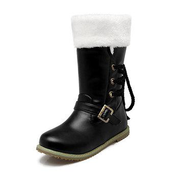 Nous la taille 5-21 des femmes d'hiver gardent grande taille occasionnels bottes chaudes de neige en peluche en plein air