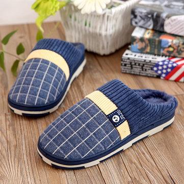Nouvelles chaussures hommes Rester coton chaud intérieure confortable en peluche glissement sur chaussures pantoufle