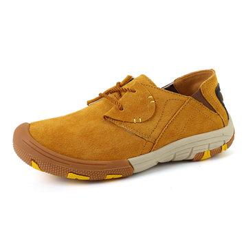 Mens cuir lacent chaussures de plein air chaussures de sport chaussures de sport respirant