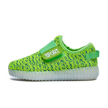 KIDS& USB& LED& Luminous& Lightweight& Sneakers Light up Shoes Colorful Flash Shoes