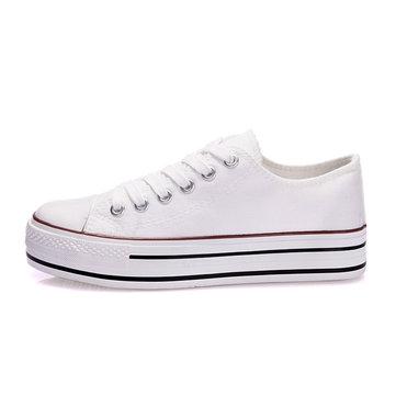 Dentelle femmes chic de toile bonbons chaussures couleur des chaussures plate-forme de sport