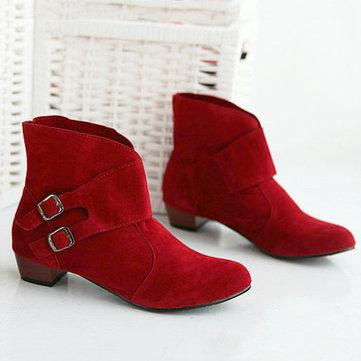 Feuillet extérieur taille nous 5-12 femmes bottes courtes casual sur les chaussures à talons hauts