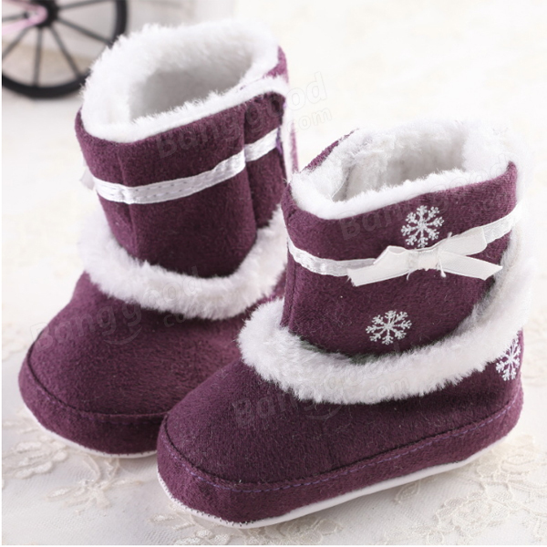 Bébé enfant en bas age de noel flocons de neige bottes antidérapantes chaussures chaudes
