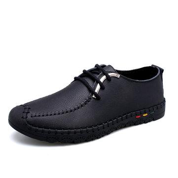 Lacent cuir souple richelieus respirant bout rond affaires formelle chaussures