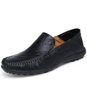 Grand glissement de taille sur des chaussures en cuir formelles souples uniques chaussures d'affaires