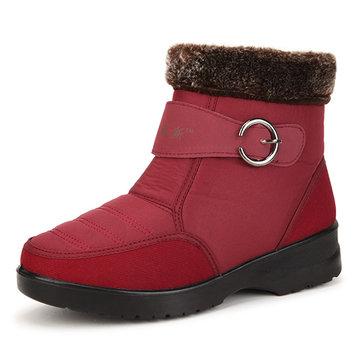 Nouvelle femmes hiver bas garder plat faibles coton en peluche bottes chaudes top de neige imperméables